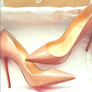 AUTHENTIC Christian Louboutin Pigalle Follies Nude